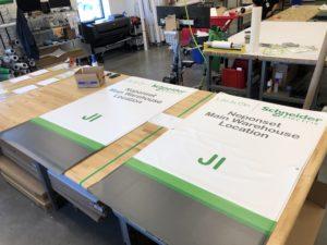Warehouse Rack Banners